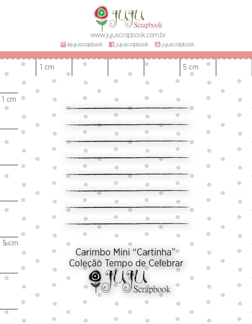 Carimbo Mini Cartinha - Coleção Tempo de Celebrar - JuJu Scrapbook  - JuJu Scrapbook