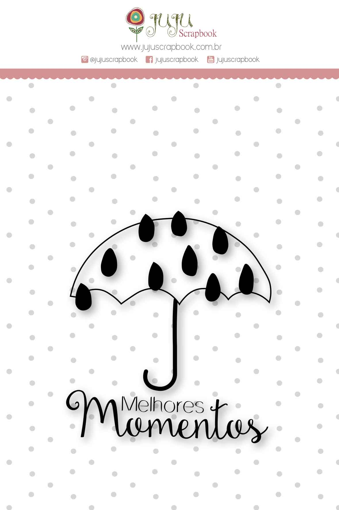 Carimbo M Melhores Momentos - Coleção Mundo Mágico - JuJu Scrapbook  - JuJu Scrapbook