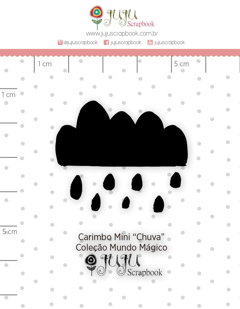 Carimbo Mini Chuva - Coleção Mundo Mágico - JuJu Scrapbook  - JuJu Scrapbook