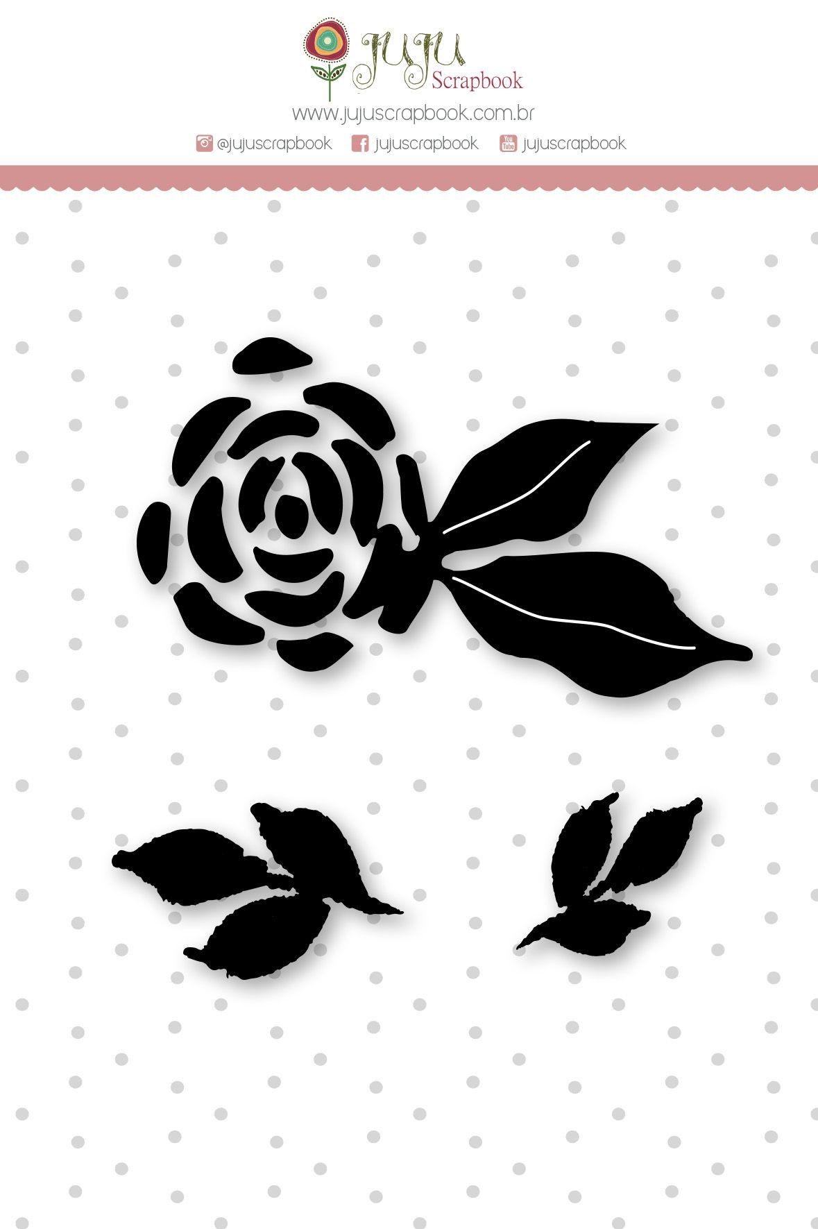 Carimbo Mini Flor - Coleção Felizes para Sempre - JuJu Scrapbook  - JuJu Scrapbook
