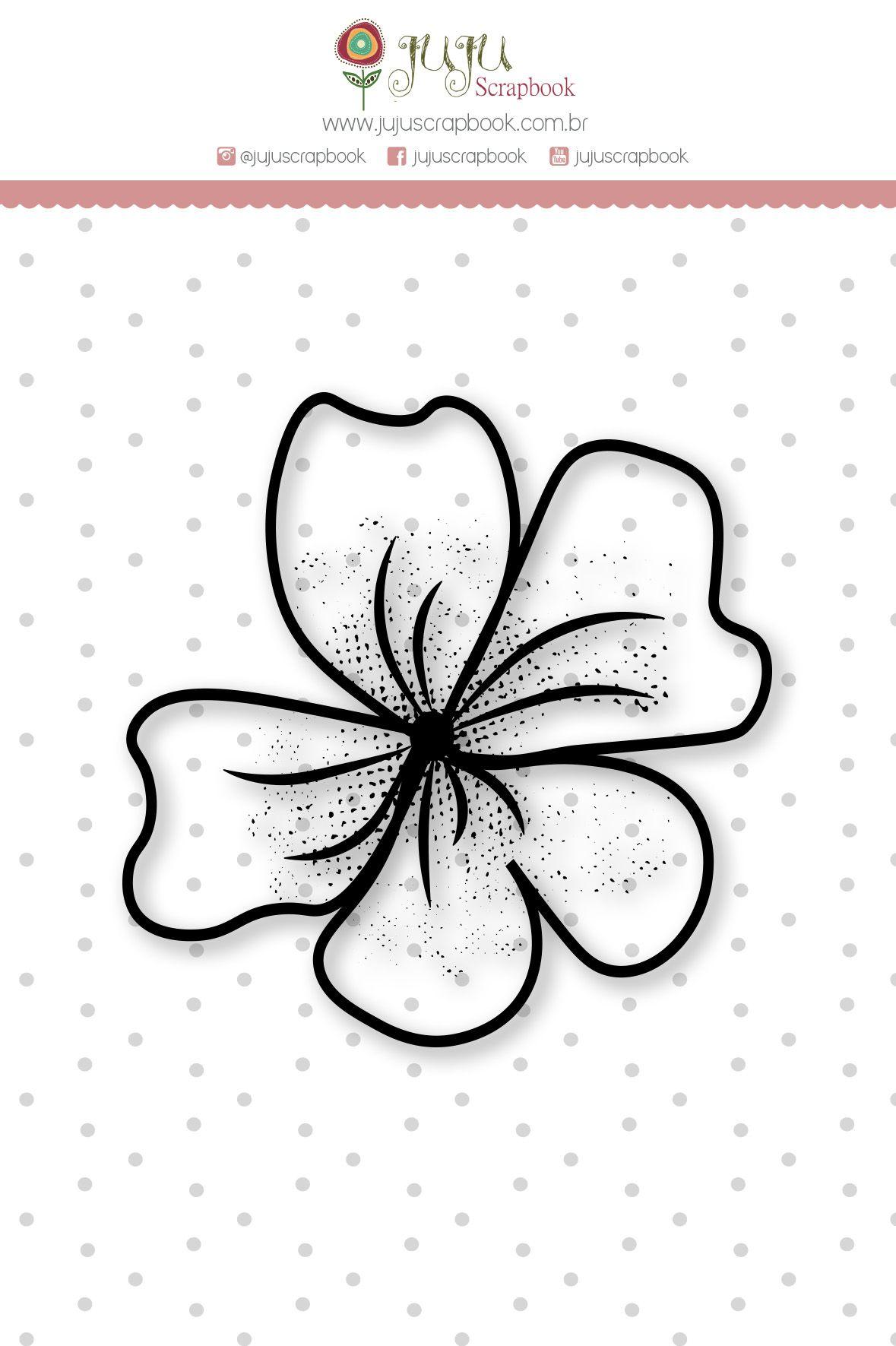 Carimbo Mini Florzona - Coleção Felizes para Sempre - JuJu Scrapbook  - JuJu Scrapbook