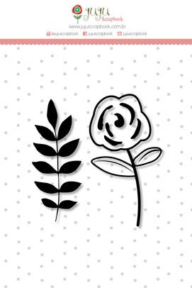 Carimbo M Floral - Coleção Abraço de Urso - JuJu Scrapbook  - JuJu Scrapbook