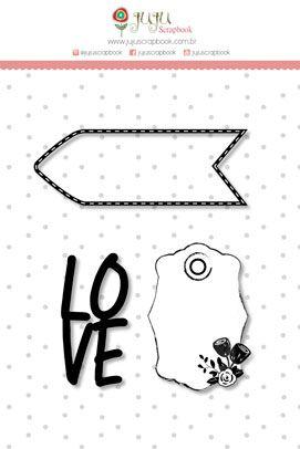 Carimbo M Love - Coleção Abraço de Urso - JuJu Scrapbook  - JuJu Scrapbook