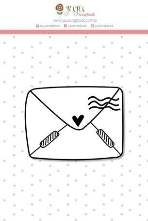 Carimbo Mini Carta de Amor - Coleção Abraço de Urso - JuJu Scrapbook  - JuJu Scrapbook