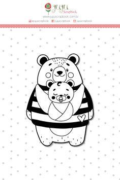 Carimbo XG Mãe Ursa - Coleção Abraço de Urso - JuJu Scrapbook  - JuJu Scrapbook
