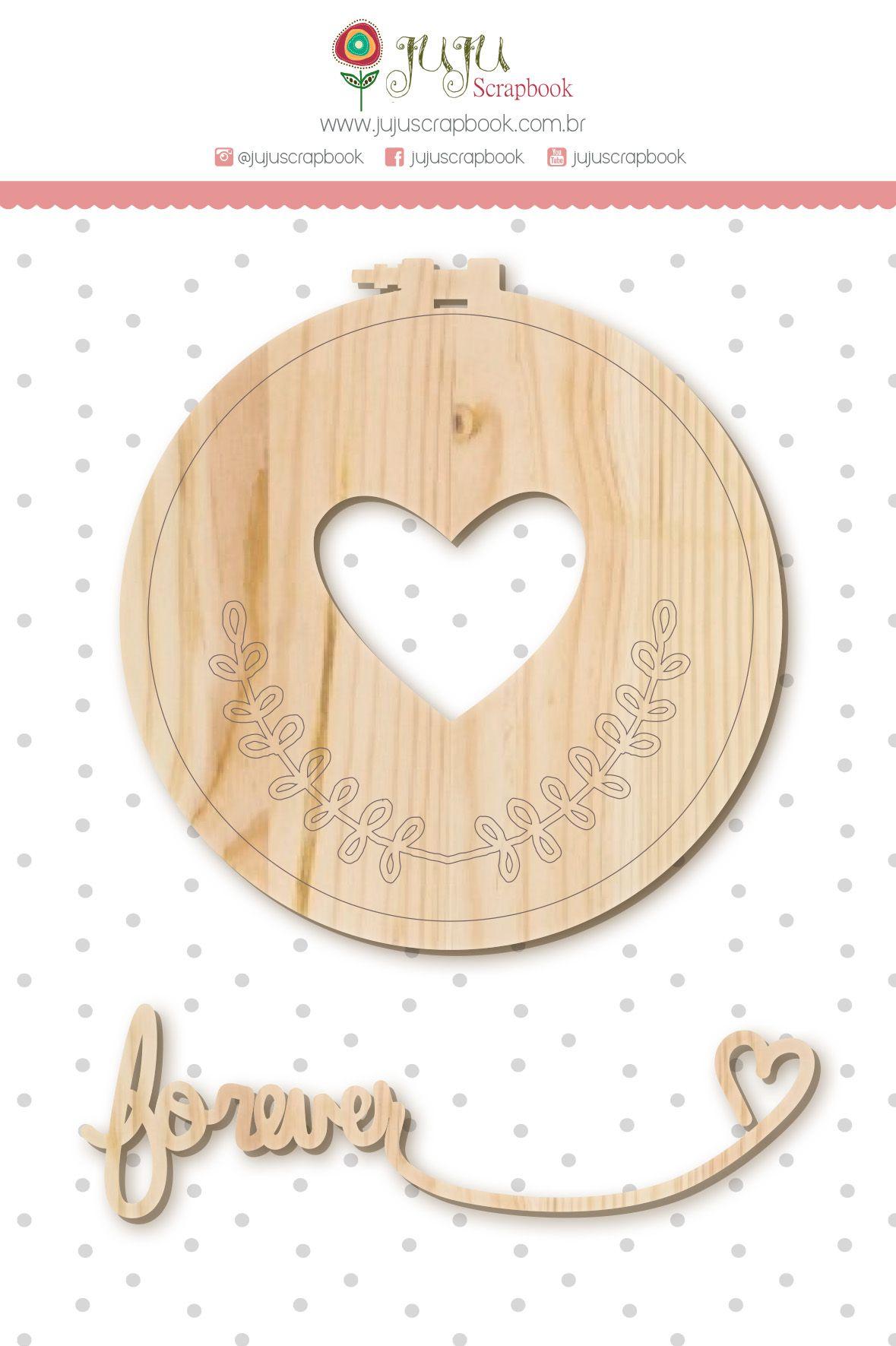 Enfeite Pinus Forever - Coleção Amizade é Tudo - JuJu Scrapbook  - JuJu Scrapbook