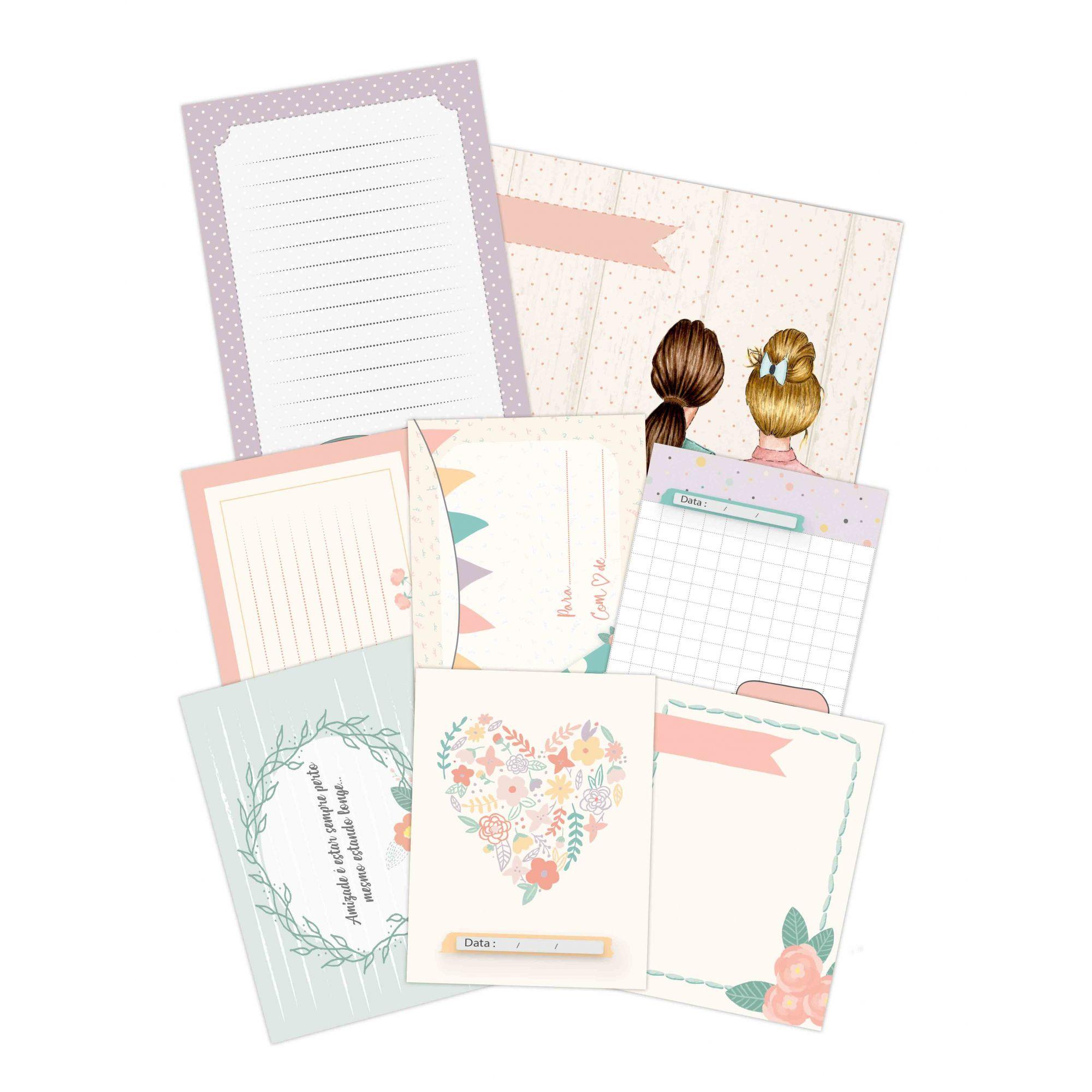 Cards Amizade - Coleção Amizade é Tudo - JuJu Scrapbook  - JuJu Scrapbook