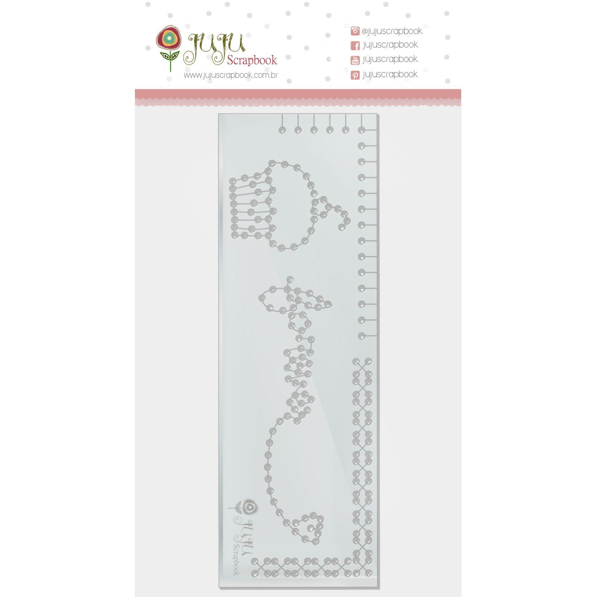 Régua de Costura Forever - Coleção Amizade é Tudo - JuJu Scrapbook  - JuJu Scrapbook