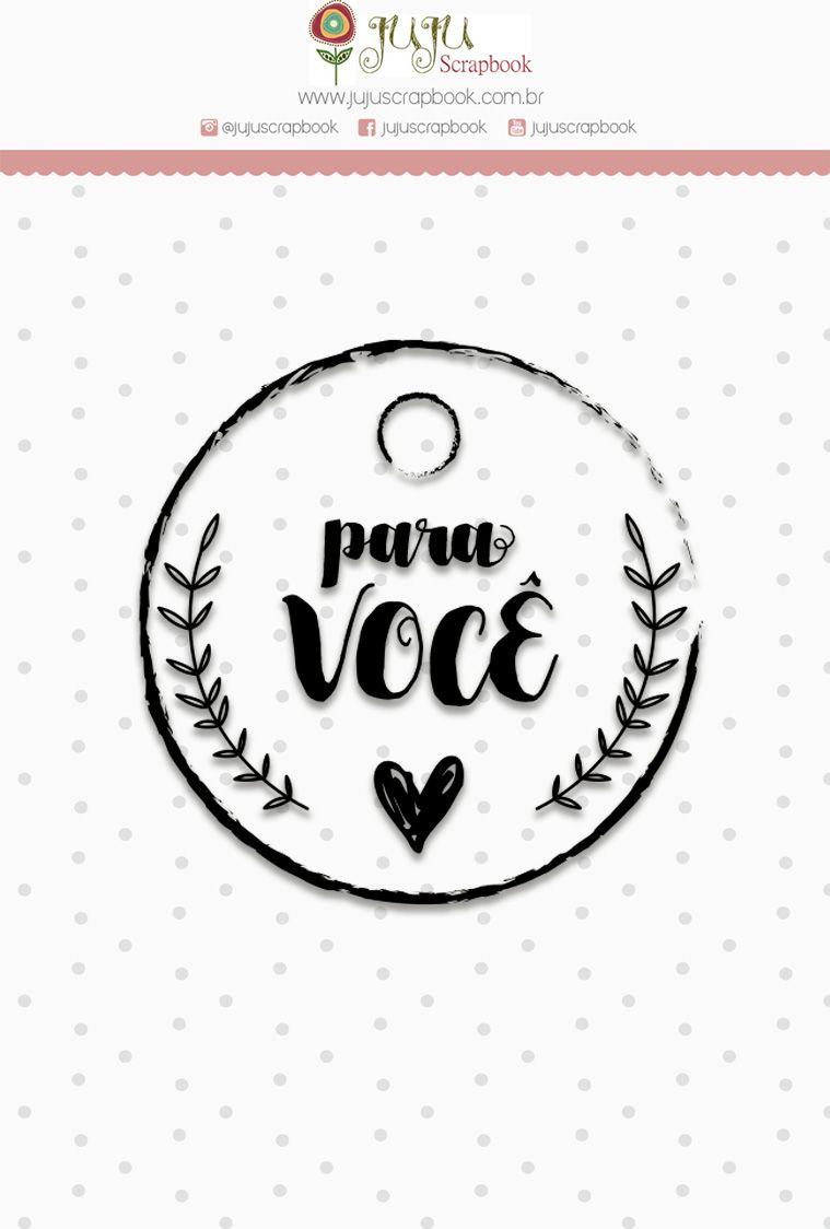 "Coleção Love Scrap - Carimbo Mini ""Para Você"" / JuJu Scrapbook  - JuJu Scrapbook"