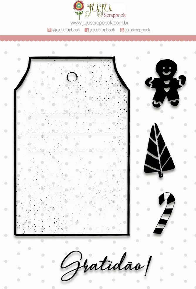 Carimbo G Gratidão - Coleção Noite Feliz - JuJu Scrapbook  - JuJu Scrapbook