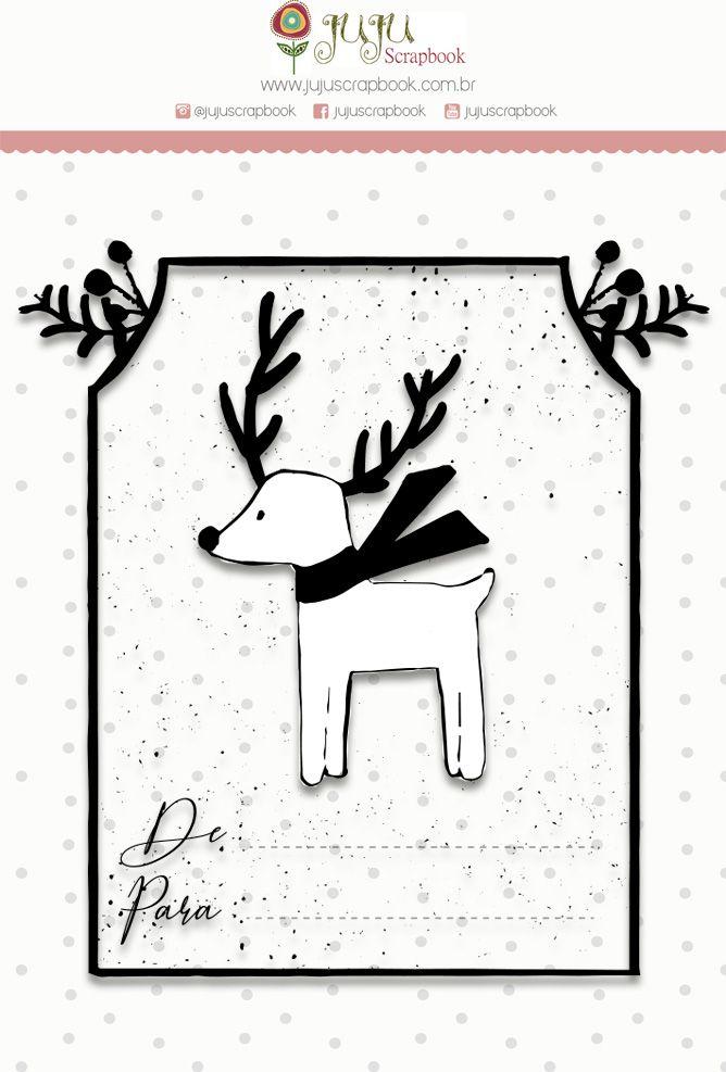 Carimbo G Presente de Natal - Coleção Noite Feliz - JuJu Scrapbook  - JuJu Scrapbook