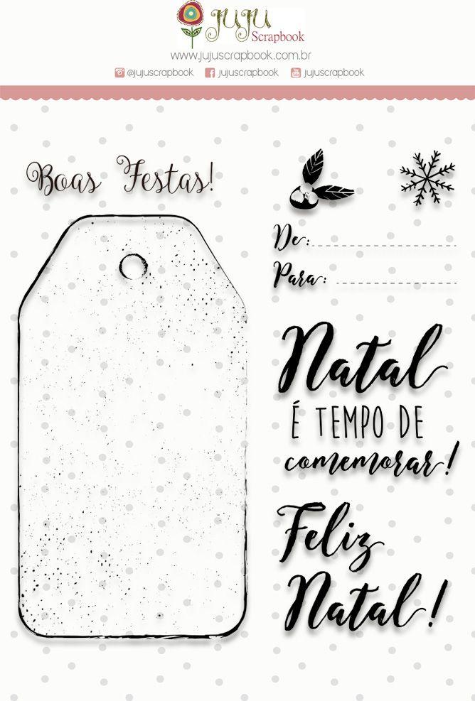 Carimbo G Tempo de Comemorar - Coleção Noite Feliz - JuJu Scrapbook  - JuJu Scrapbook