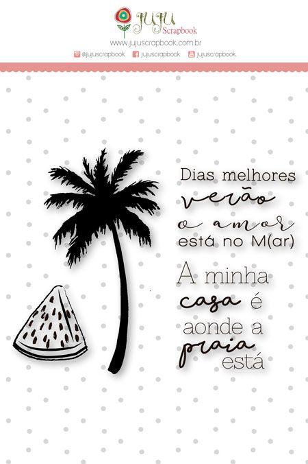 Carimbo G Dias Melhores Verão - Coleção Paraíso Tropical - JuJu Scrapbook  - JuJu Scrapbook