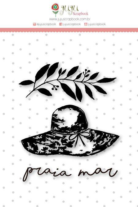 """Coleção Paraíso Tropical by Babi Kind - Carimbo M """"Praia"""" / JuJu Scrapbook  - JuJu Scrapbook"""