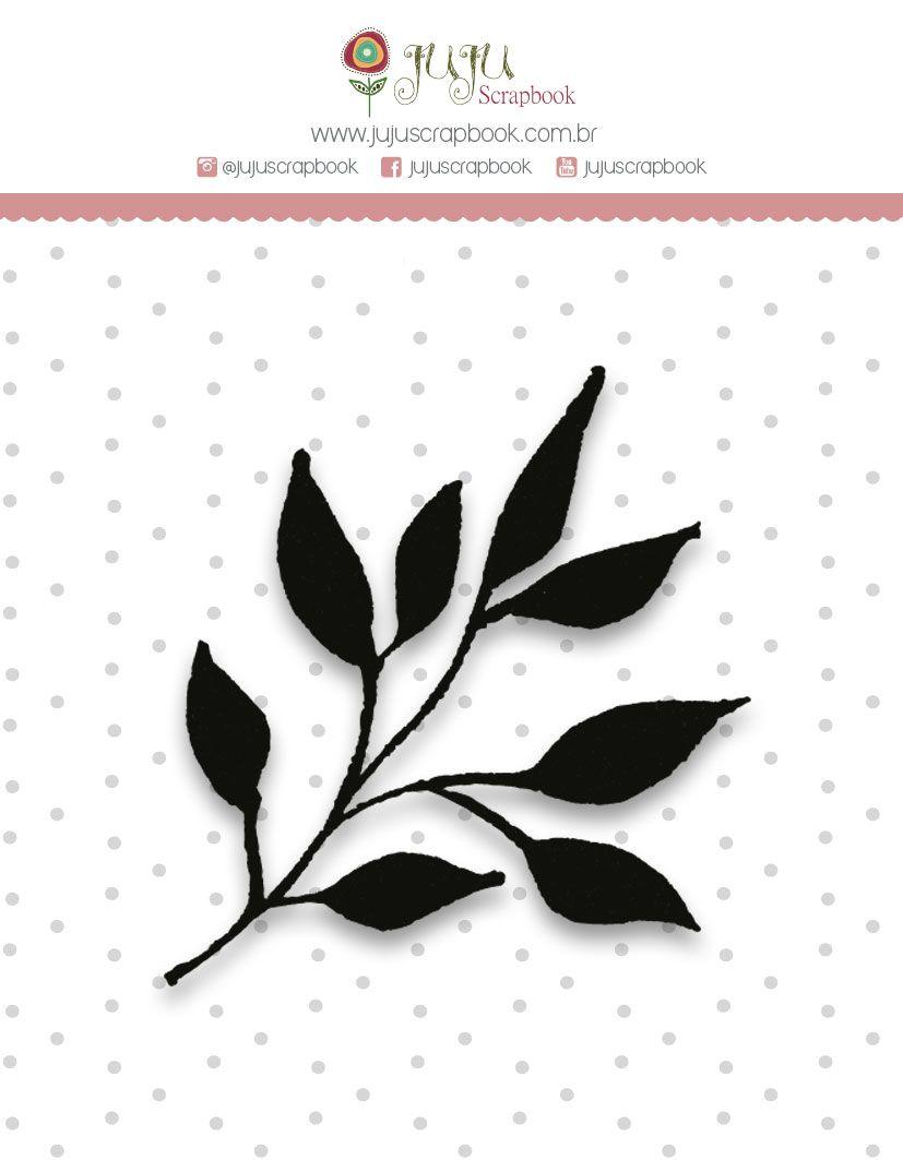 """Coleção Shabby Dreams by Babi Kind - Carimbo Mini """"Raminho"""" / JuJu Scrapbook  - JuJu Scrapbook"""