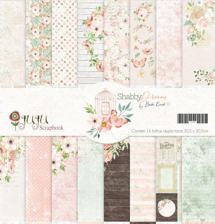 Coleção Shabby Dreams by Babi Kind - Kit Coordenado / JuJu Scrapbook  - JuJu Scrapbook