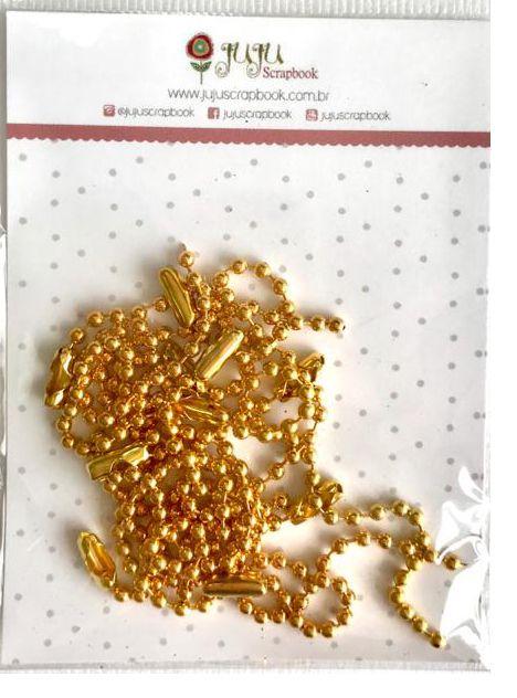 Correntinha - Dourado - Juju Scrapbook  - JuJu Scrapbook