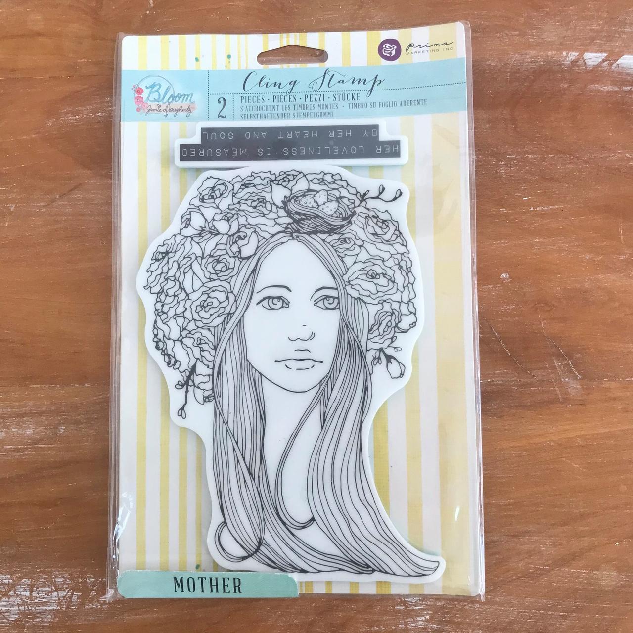 Desapego Juju - Cling Stamp Mother  - JuJu Scrapbook