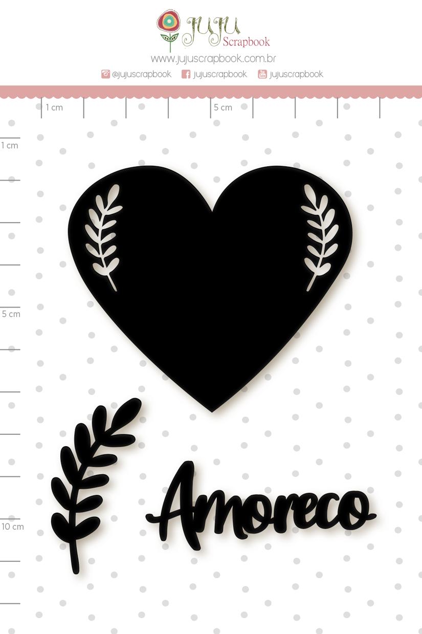 Enfeite Blackboard Amoreco - Coleção Espalhando Amor - Juju Scrapbook   - JuJu Scrapbook