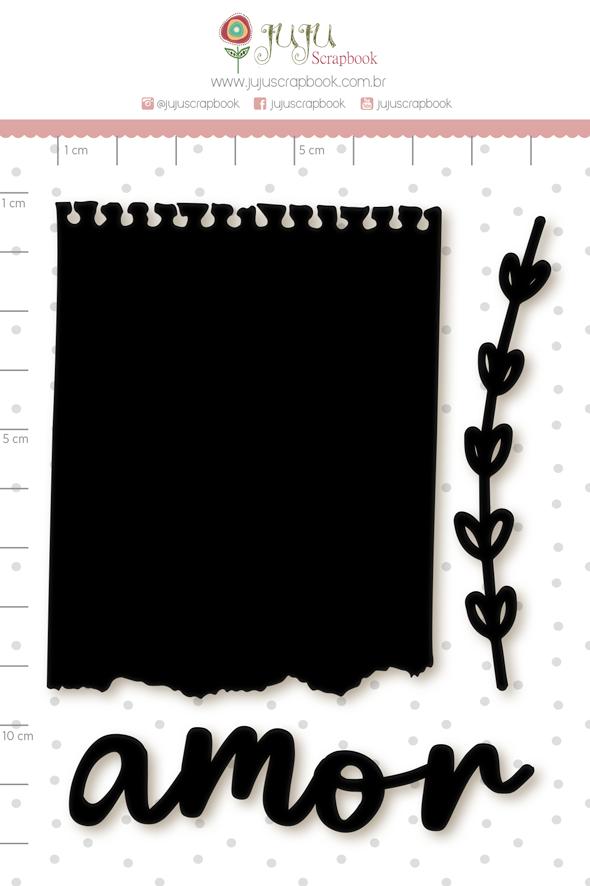 Enfeite Blackboard Bilhetinho - Coleção Cartas para Você - Juju Scrapbook   - JuJu Scrapbook