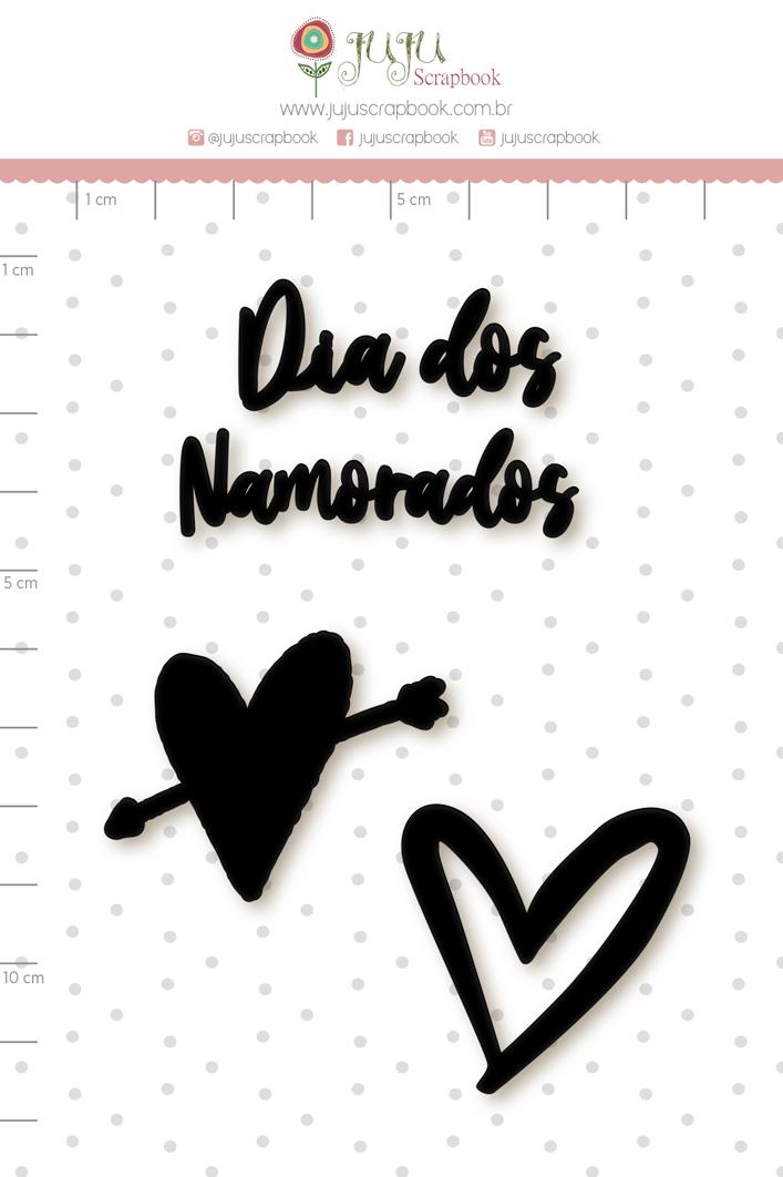 Enfeite Blackboard Dia dos Namorados - Coleção Espalhando Amor - Juju Scrapbook   - JuJu Scrapbook