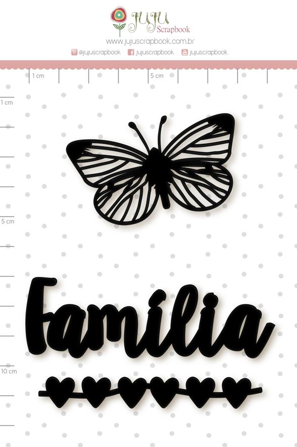 Enfeite Blackboard Família  - Juju Scrapbook   - JuJu Scrapbook