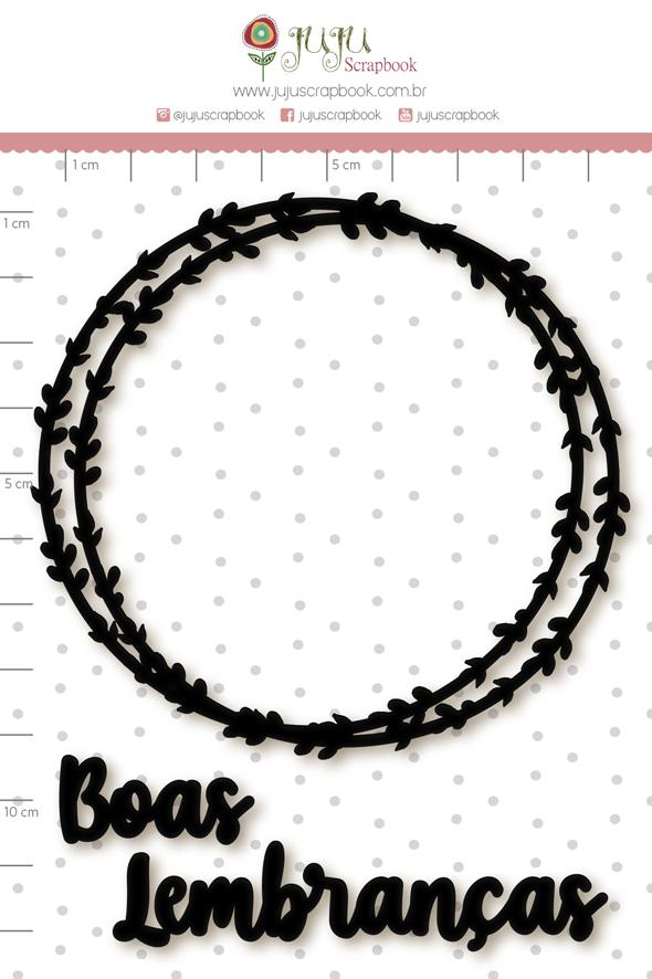Enfeite Blackboard Boas Lembranças - Coleção Quarentena Criativa - Juju Scrapbook  - JuJu Scrapbook