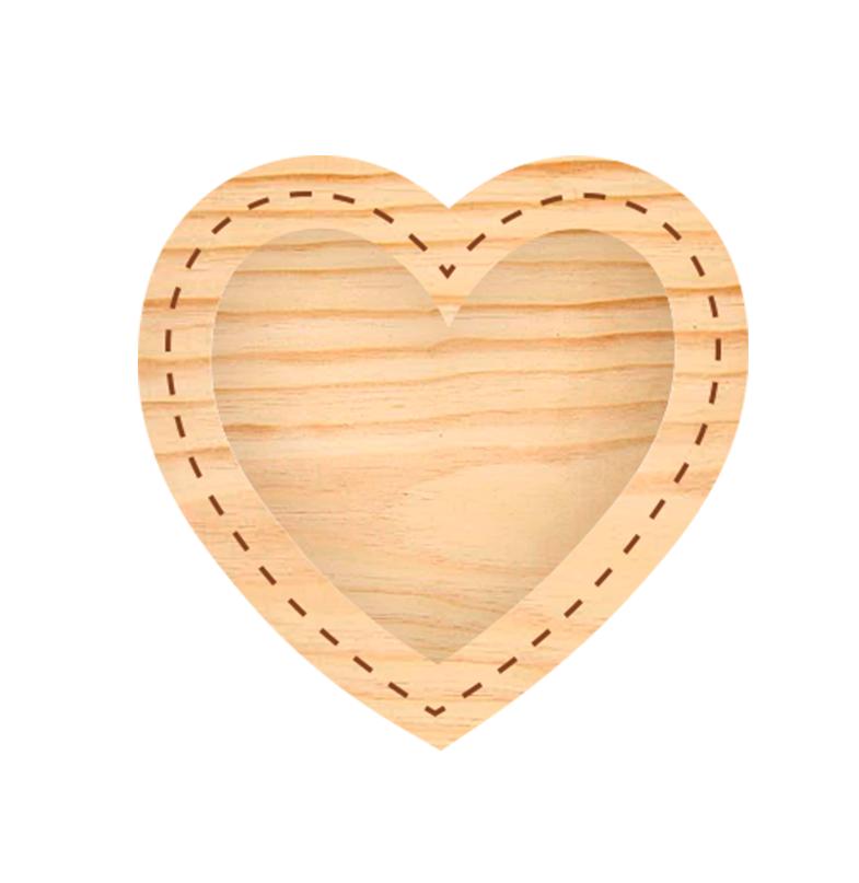 Estrutura Moldura de Coração - Coleção Família para Sempre  - JuJu Scrapbook
