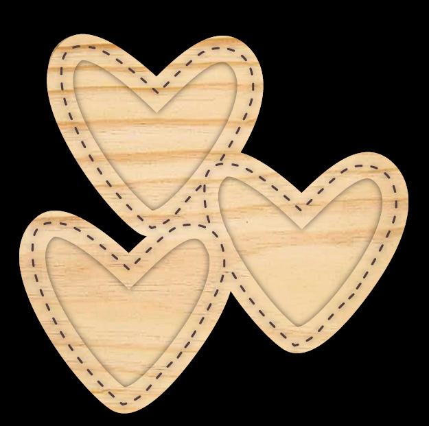 Estrutura Trio de Amor - Coleção Cartas para Você - Juju Scrapbook  - JuJu Scrapbook