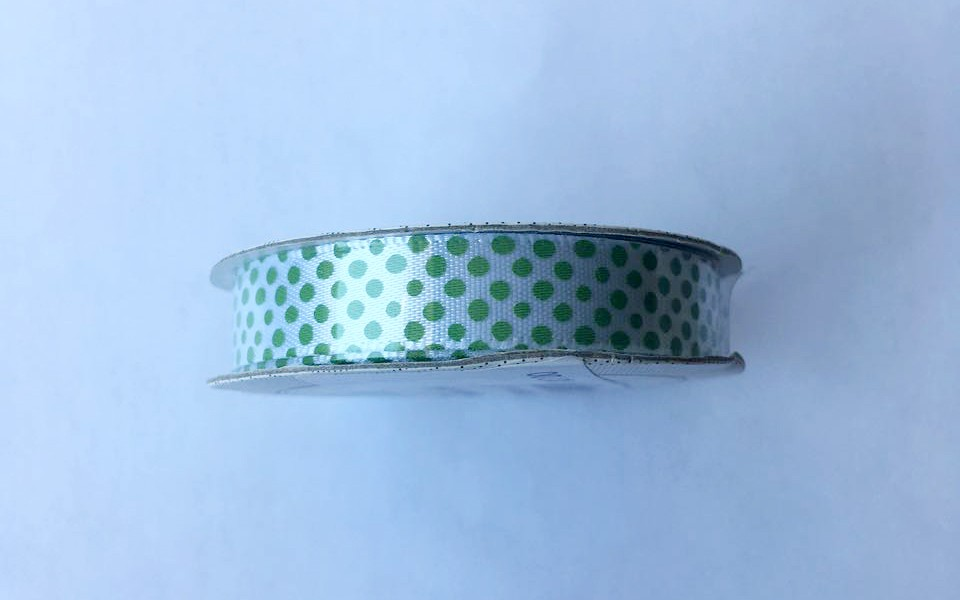 Fita Premium Ribbon Bolinhas - American Crafts   - JuJu Scrapbook
