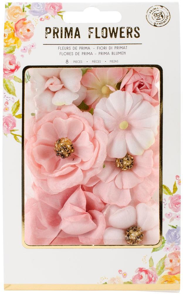 Flores Decorativas Rosa Prima Flowers - Prima Marketing   - JuJu Scrapbook