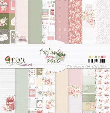 Kit Coordenado - Coleção Cartas para Você - JuJu Scrapbook  - JuJu Scrapbook