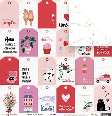 Kit Coordenado - Coleção Espalhando Amor - JuJu Scrapbook  - JuJu Scrapbook