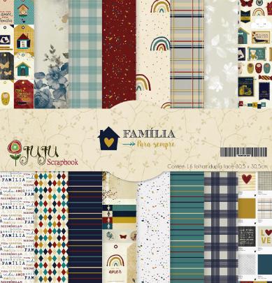 Kit Coordenado - Coleção Família para Sempre - JuJu Scrapbook  - JuJu Scrapbook