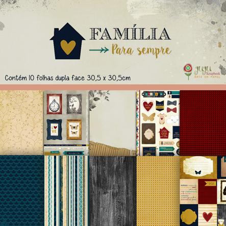 Kit Coordenado - Coleção Família para Sempre / JuJu Scrapbook  - JuJu Scrapbook