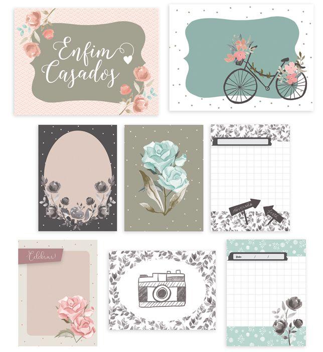 Kit de Cards Celebre o Amor - Coleção Felizes para Sempre / JuJu Scrapbook  - JuJu Scrapbook