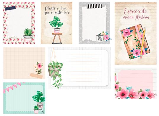 Cards Escrevendo a Minha História - Coleção Quarentena Criativa - Juju Scrapbook  - JuJu Scrapbook