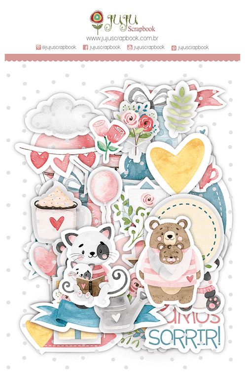 Die Cuts - Coleção Abraço de Urso - Coleção Abraço de Urso - JuJu Scrapbook  - JuJu Scrapbook