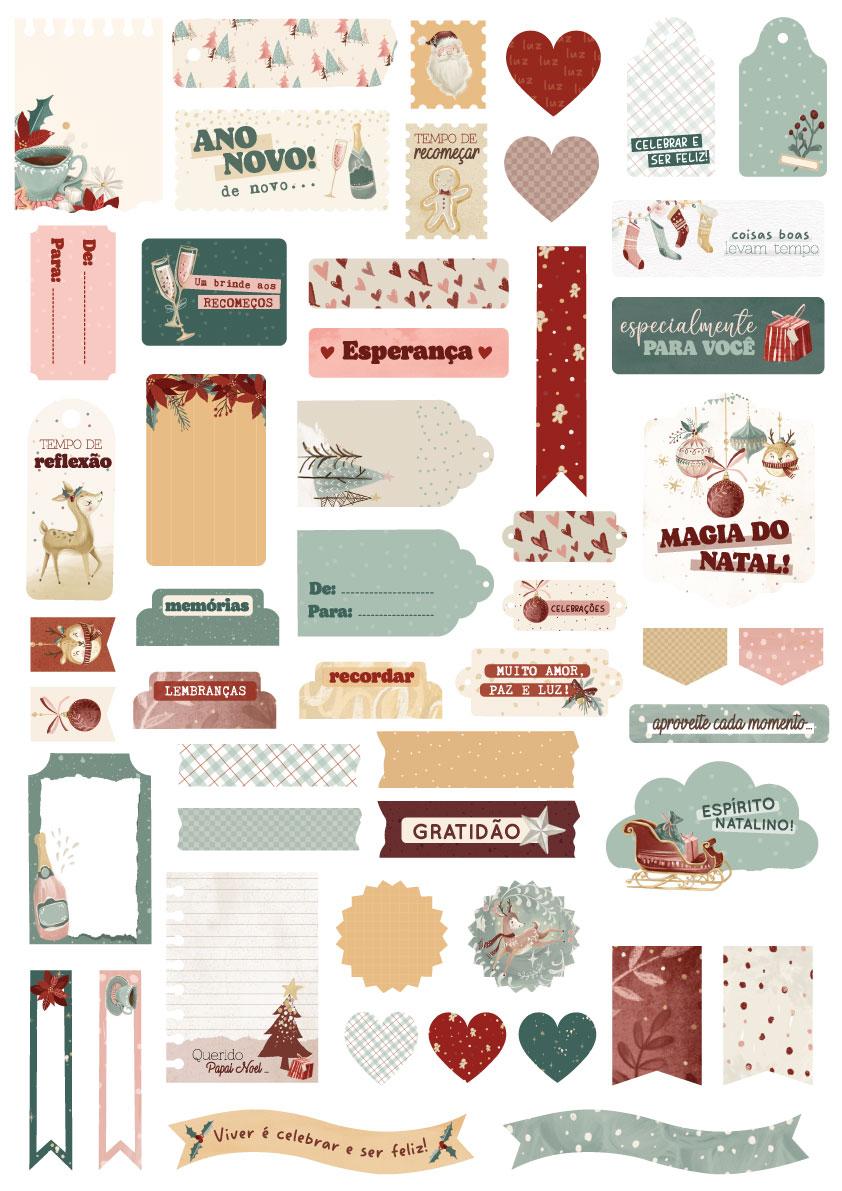 Kit de Die Cuts Tempo de Celebrar - Coleção Tempo de Celebrar - JuJu Scrapbook  - JuJu Scrapbook