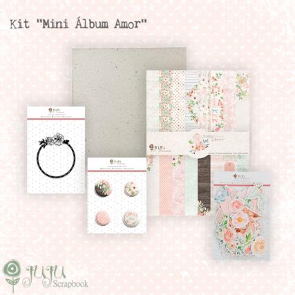 """Kit """"Mini Álbum Amor""""  - JuJu Scrapbook"""