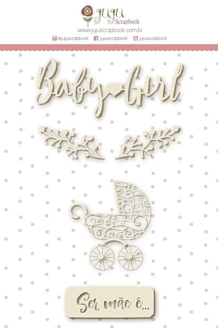 """Kit """"Página Baby Girl""""  - JuJu Scrapbook"""
