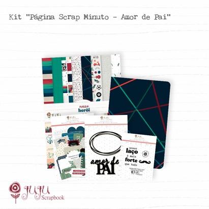 "Kit ""Página Scrap Minuto - Amor de Pai"" - Juju Scrapbook   - JuJu Scrapbook"