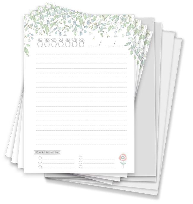 Kit para Agenda Permanente Folhinhas - Coleção Toda Básica - JuJu Scrapbook  - JuJu Scrapbook