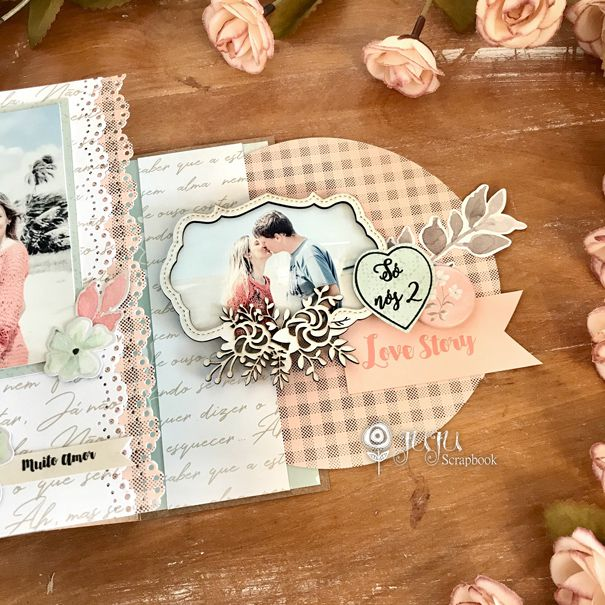 "Kit ""Porta Retrato só nós 2""  - JuJu Scrapbook"