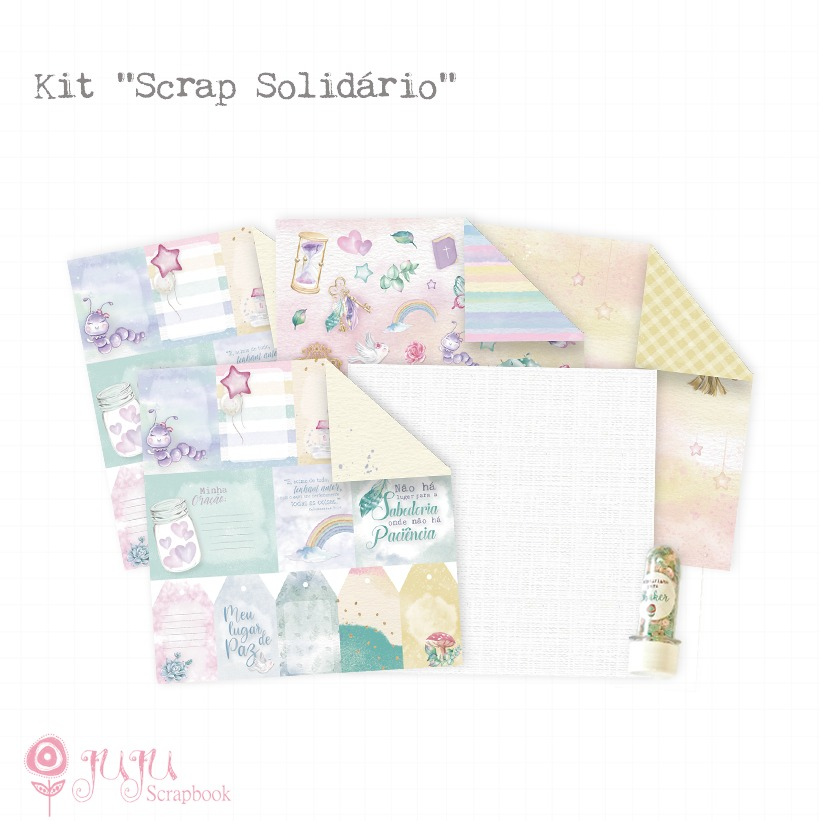 Kit Scrap Solidário - Juju Scrapbook   - JuJu Scrapbook