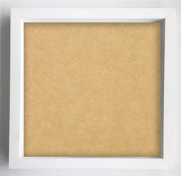 Moldura Funda 30 x 30 cm - Branca / JuJu Scrapbook  - JuJu Scrapbook