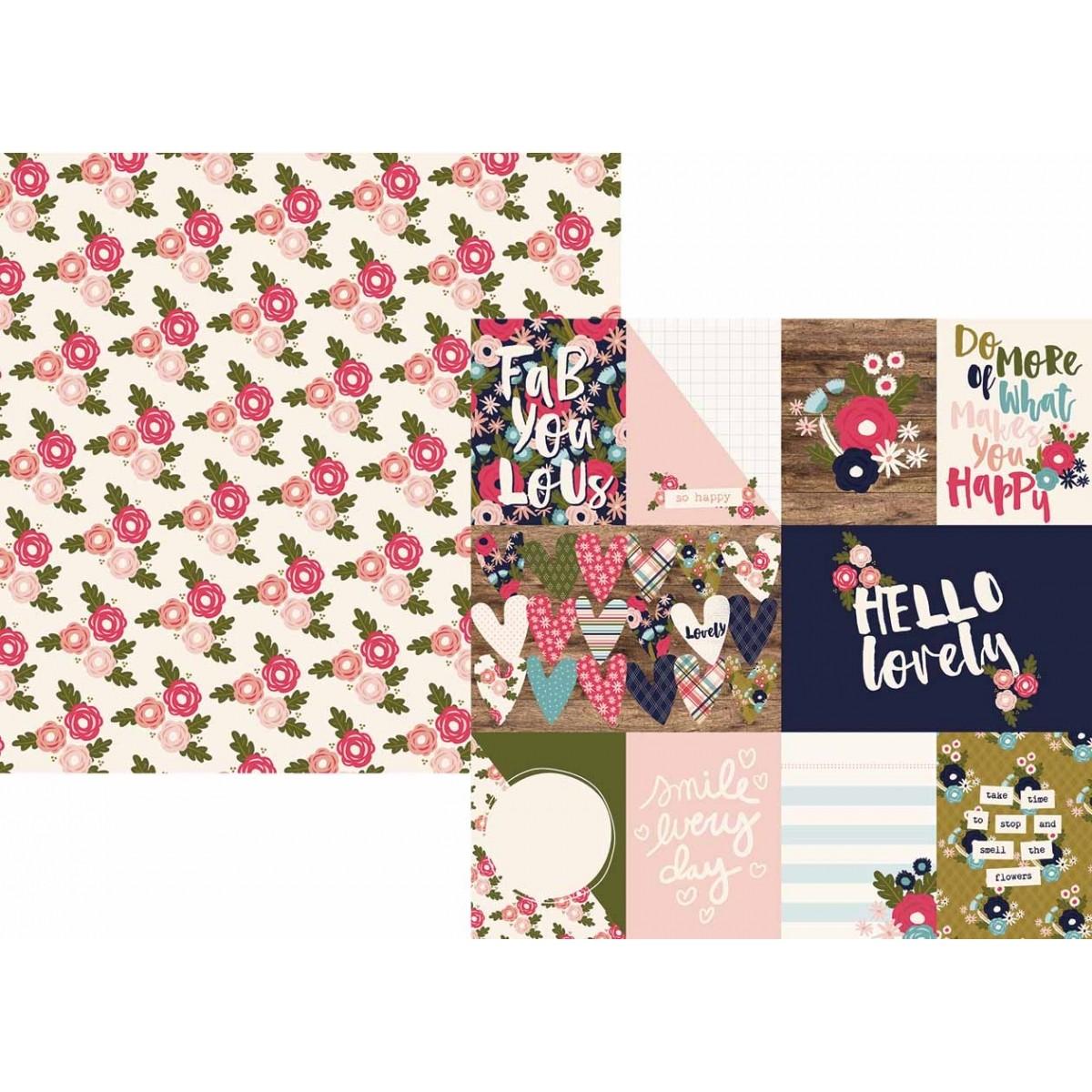 Papel Coleção Hello Lovely /  3x4 4x6 Journaling Cards - Simple Stories  - JuJu Scrapbook