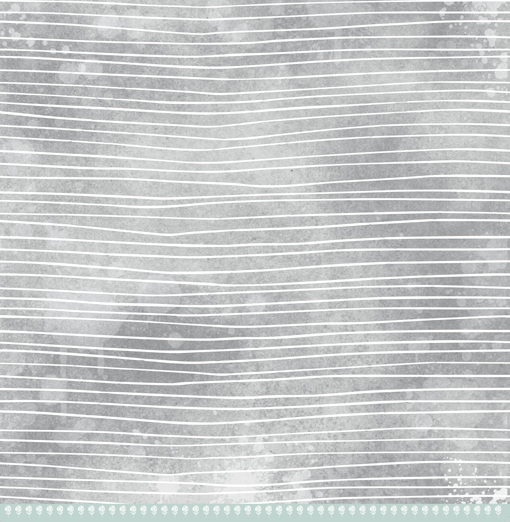 Papel Fios de Lã - Coleção Toda Básica / JuJu Scrapbook  - JuJu Scrapbook