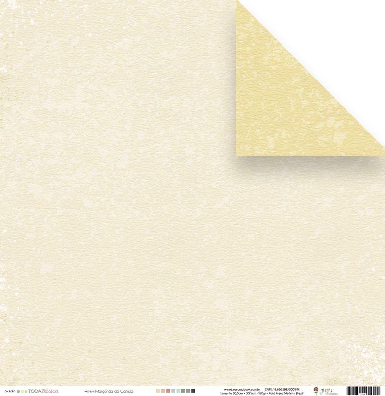 Papel Margarida do Campo - Coleção Toda Básica - JuJu Scrapbook  - JuJu Scrapbook