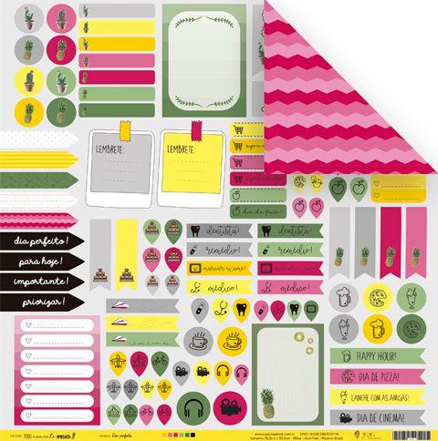 Papel Dia Perfeito - Coleção Todo Momento Importa - JuJu Scrapbook  - JuJu Scrapbook